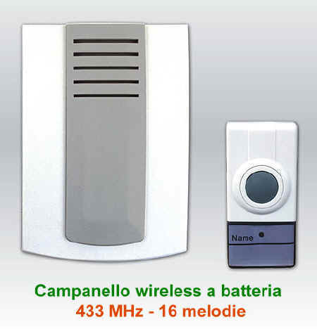 Campanello wireless senza fili a batteria campanello - Campanello casa senza fili ...