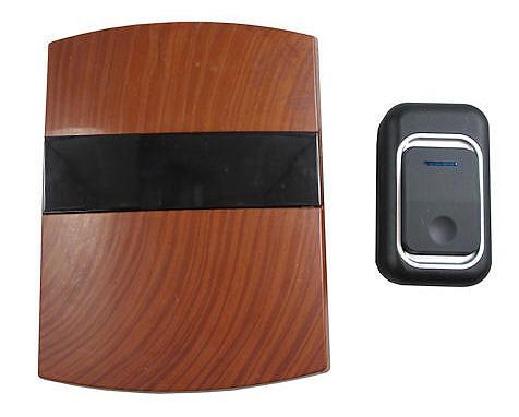 Campanello senza fili wireless a batteria color legno - Campanello senza fili da esterno ...