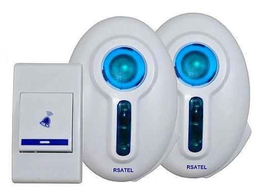 Campanello senza fili wireless portatile due ricevitori a - Campanello casa senza fili ...