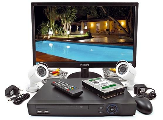 Kit videosorveglianza 2 telecamere alta definizione AHD + videoregistratore dvr visione ...