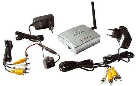 Microtelecamera senza fili spia obiettivo pinhole - Citofono wireless lunga portata ...