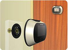 Telecamera spioncino porta monitor fotocamera - Spioncino porta con telecamera ...