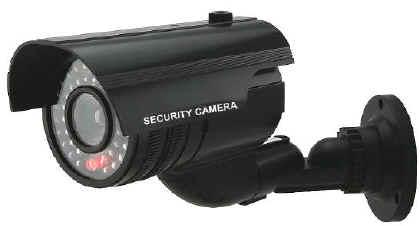 Telecamera finta nera per videosorveglianza falsa for Telecamere x esterno