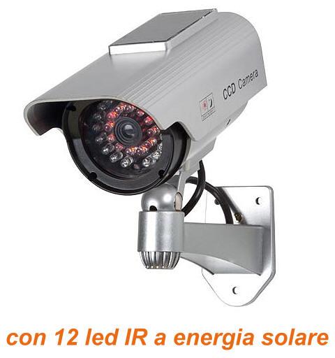 Telecamera Finta Videosorveglianza led infrarossi a energia solare  Telecamera infrarossi finta ...